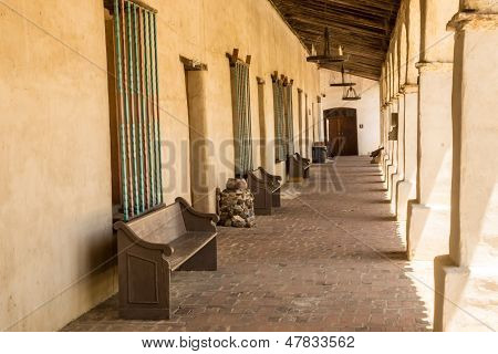 Colonnade at a Spanish Mission