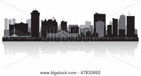 Winnipeg Canada City Skyline Vector Silhouette