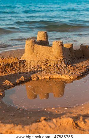 Sandcastle - concepto de hacer guardar edificio