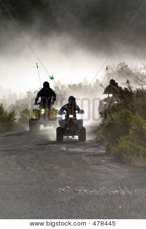 Atvs Coming Around Corner