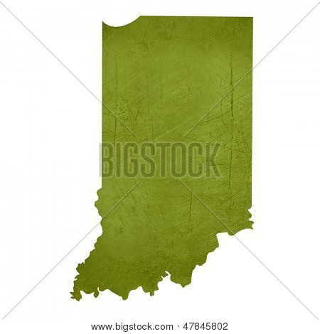 American state of Indiana isolated on white background with clipping path.