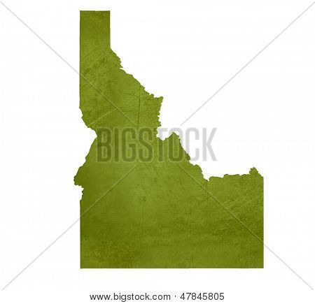 American state of Idaho isolated on white background with clipping path.