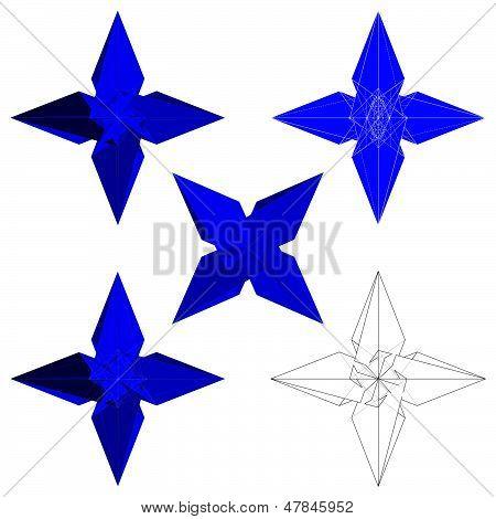 Ninja Stars Shuriken Vector