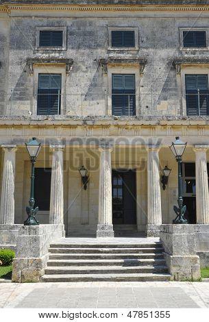 corfu palace detail
