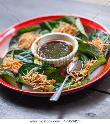Miang Kham Is A Tasty Snack Often Sold As Thailand Street Food. It Involves Wrapping Little Tidbits