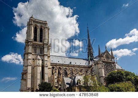Catedral de Notre Dame De Paris em citar a ilha, França