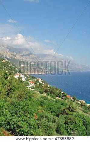 Makarska Riviera near Brela,Croatia