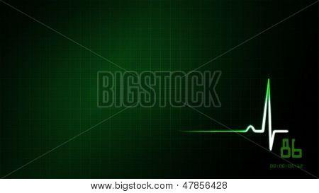 Green Ekg Monitor Background