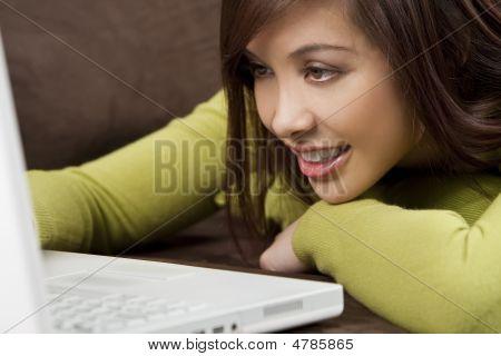 Laying Down Laptop