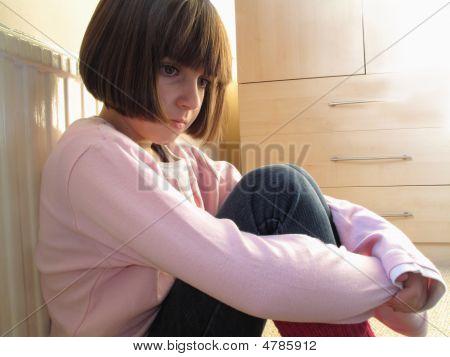 Child Looking Depressed