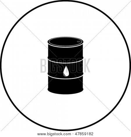 símbolo de barril de petróleo