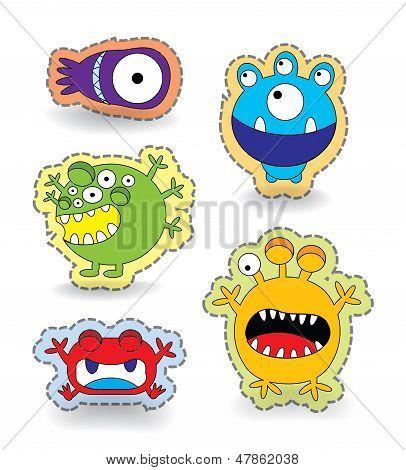 Cute Monster Collection Set Sticker