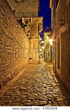 Narrow Stone Street In Vodice