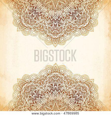Ornate vintage vector background in mehndi style