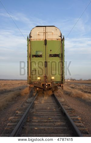Old Stock Rail Car For Livestock Transportation