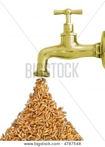 Faucet With Grain