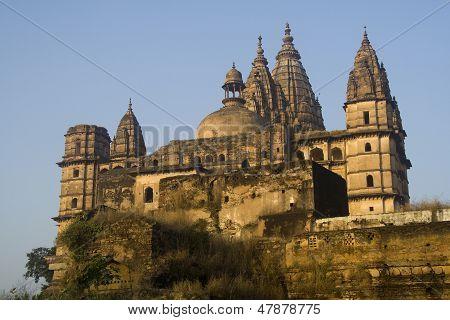 Imposing Chaturbhuj Temple