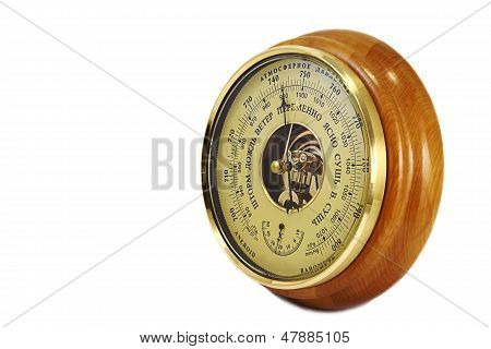 Barometer - Aneroid On A White Background