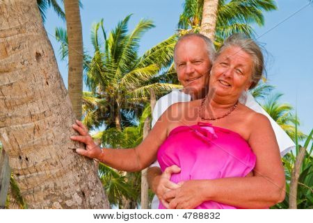 Happy Mature Couple Caressing