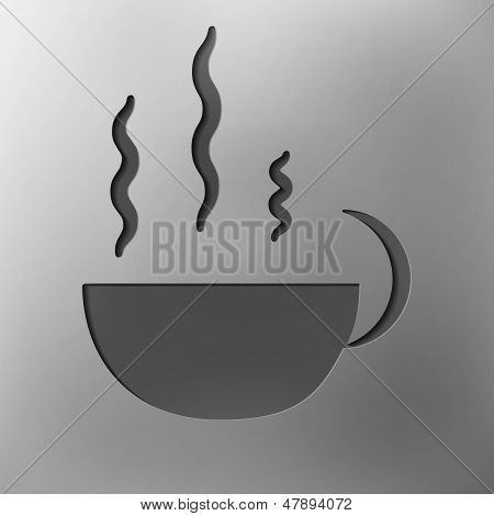 cup of coffee, abstract icon
