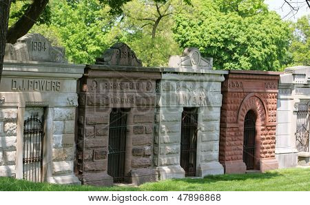 Row of Mausoleums