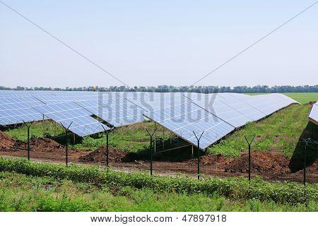 Solar panels, outside