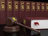 Legal Books and Gavel