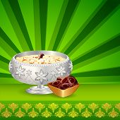 stock photo of halwa  - illustration of sewain for Eid Mubarak  - JPG
