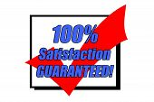 100% Satisfaction Guaranteed Concept