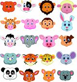 foto of cow head  - Vector illustration of Cartoon animal head icon - JPG