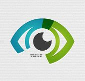 image of hypnotic  - Colorful vector eye paper design - JPG