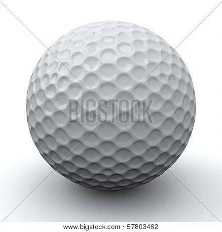 Golf ball, 3d
