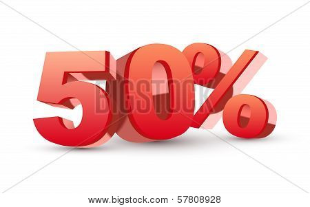 3D Shiny Red Discount Collection - 50 Percent