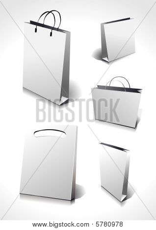 Different blank shopping bags,you can change their colors and modify them.