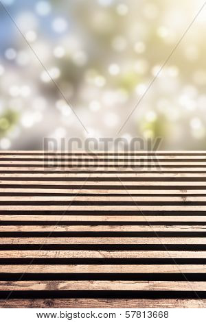 Wooden Floor With Idyllic Bokeh
