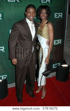 Sharif Atkins and Danita Patterson  at the Party Celebrating the series finale of the television show 'ER'. Social Hollywood, Hollywood, CA. 03-28-09