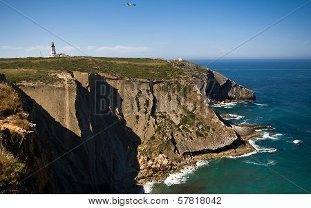 Cape Lighthouse And Cliff