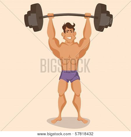 athlete with a barbell