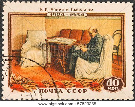 Communist Leader Lenin (ulyanov) In Working Room