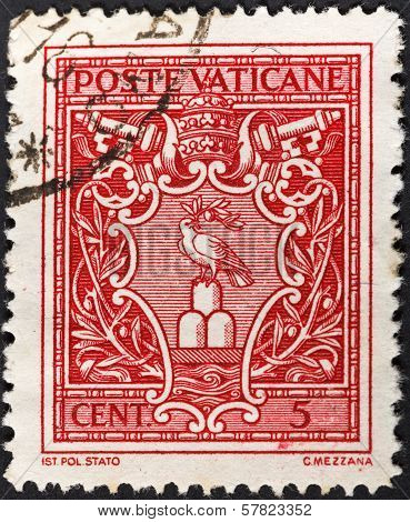 Pope Pius Xii Symbol Dove With Olive Branch