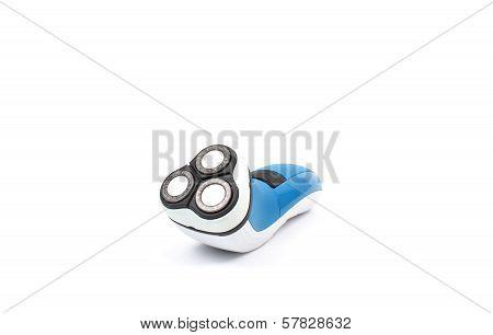Old Blue Shaver Over White
