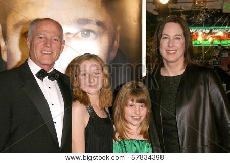 Frank Marshall with Kathleen Kennedy and family   at the Los Angeles Premiere of 'The Curious Case of Benjamin Button'. Mann's Village Theater, Westwood, CA. 12-08-08