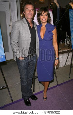 Harry Hamlin and Lisa Rinna   at the launch party for 'Dance Body Beautiful' series of DVDs by Lisa Rinna. Belle Gray, Sherman Oaks, CA. 12-09-08