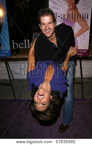 Lisa Rinna and Louis van Amstel   at the launch party for 'Dance Body Beautiful' series of DVDs by Lisa Rinna. Belle Gray, Sherman Oaks, CA. 12-09-08