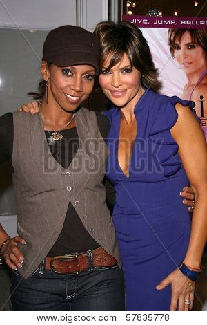 Holly Robinson Peete and Lisa Rinna   at the launch party for 'Dance Body Beautiful' series of DVDs by Lisa Rinna. Belle Gray, Sherman Oaks, CA. 12-09-08