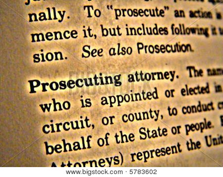 Dictionary Prosecuting Attorney