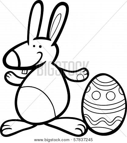 Funny Easter Bunny Coloring Page