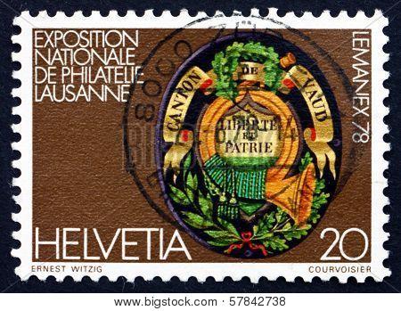 Postage Stamp Switzerland 1978 Arms Of Vaud Canton