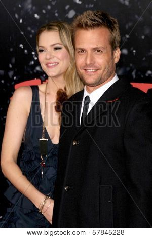 Jacinda Barrett and Gabriel Macht   at the Los Angeles Premiere of 'The Spirit'. Grauman's Chinese Theatre, Hollywood, CA. 12-17-08