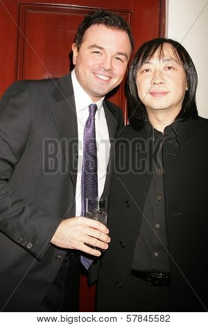 Seth MacFarlane and Wayne Kao   at Flaunt Magazine's 10th Anniversary Party And Holiday Toy Drive. Wayne Kao Mansion, Homby Hills, CA. 12-18-08